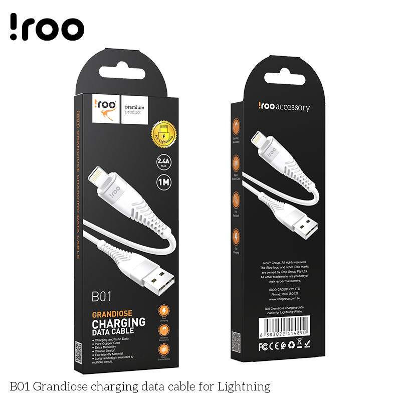 iRoo B01 Grandiose USB cable - Lighting - 1M