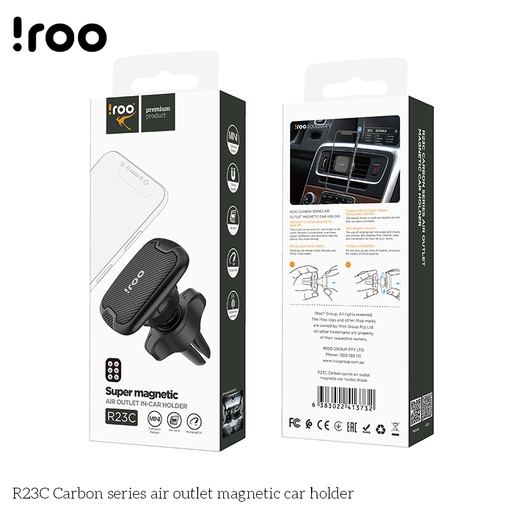 [R23C] iRoo R23C Carbon Air outlet magnetic car holder