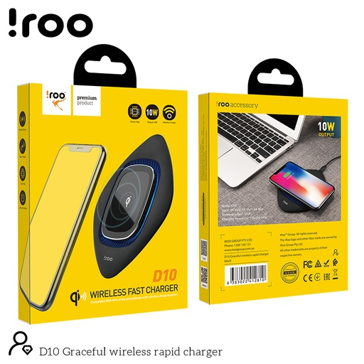 [D10] iRoo D10 | Fast 10W Wireless Desktop Charger