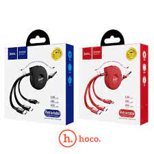 [U50] Hoco U50 | 3in1 Retractable Cables (Lightning, Type-C, Micro)